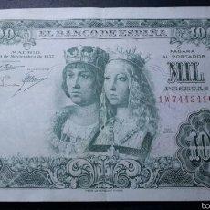 Billetes españoles: BILLETE 1000 PESETAS 1957 EBC-, REYES CATOLICOS. Lote 60586101