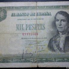 Billetes españoles: BILLETE 1000 PESETAS 1949 SANTILLAN , PRECIOSO. Lote 60609326