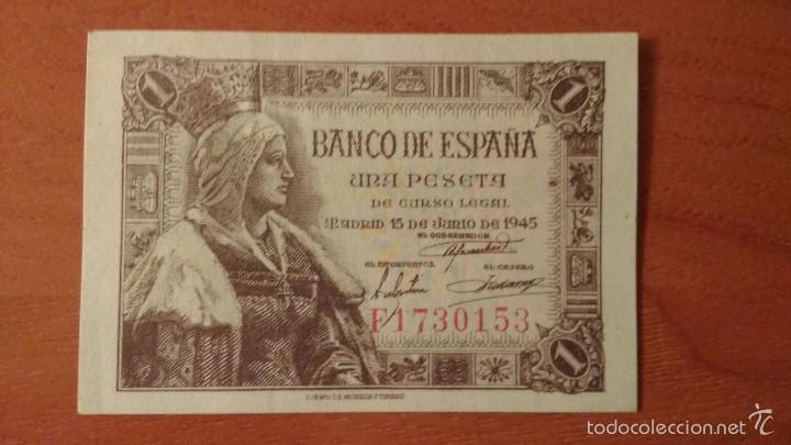 1 PESETA 1945 SIN CIRCULAR- - ESTADO ESPAÑOL - UNA PTA SC- (Numismática - Notafilia - Billetes Españoles)