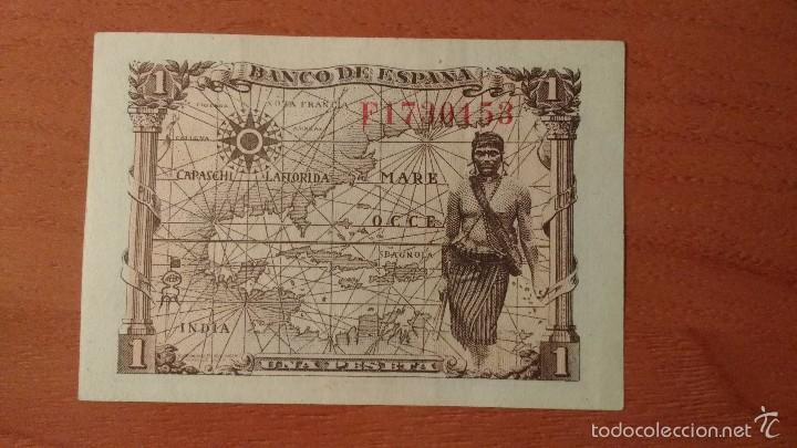 Billetes españoles: 1 PESETA 1945 SIN CIRCULAR- - ESTADO ESPAÑOL - UNA PTA SC- - Foto 2 - 154200294
