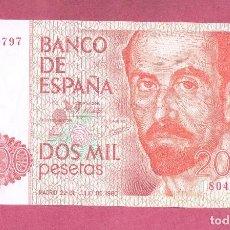 Billetes españoles: SIN SERIE BILLETE PLANCHA, DE 2000 PTAS DEL 22 DE JULIO DEL AÑO 1980. Lote 61529792