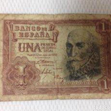 Billetes españoles: BILLETE DE UNA PESETA , AÑO : MADRID 22 DE JULIO DE 1.953. Lote 61728008