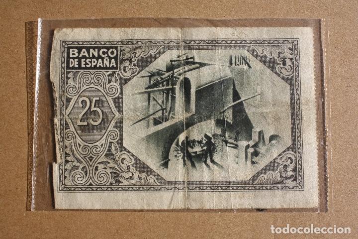 Billetes españoles: 25 Pesetas. 1937. Bilbao. Caja de ahorros Vizcaina - Nº407423 - Foto 2 - 61778092