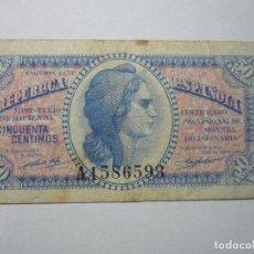 Billetes españoles: BILLETE REPUBLICA ESPAÑOLA- 5O CENTIMOS 1937 BB. Lote 61940464