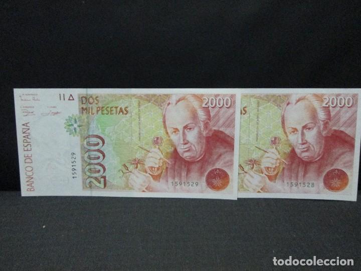 2000 PESETAS BILLETES CORRELATIVOS SIN SERIE SIN CIRCULAR (Numismática - Notafilia - Billetes Españoles)