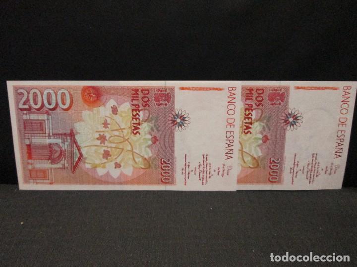 Billetes españoles: 2000 pesetas billetes correlativos sin serie sin circular - Foto 2 - 62342572