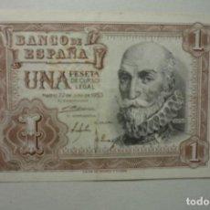 Billetes españoles: BILLETE UNA PESETA BANCO ESPAÑA 22-7-53. Lote 63279996