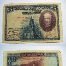Billetes españoles: BILLETE DE 25 PESETAS 1928 SERIE B CIRCULADO. Lote 63394756