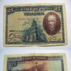 Billetes españoles: BILLETE DE 25 PESETAS 1928 SERIE B CIRCULADO. Lote 63394840