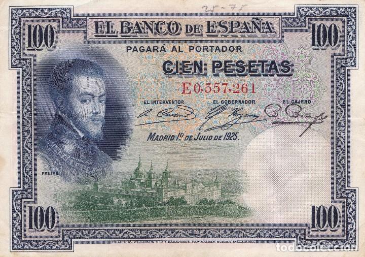 BILLETE 100 CIEN PESETAS BANCO DE ESPAÑA 1925 (Numismática - Notafilia - Billetes Españoles)