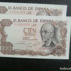 Billetes españoles: SERIE CORRELATIVA - PLANCHA - FALLA. Lote 64516143