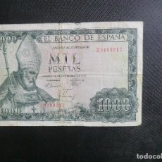 Billetes españoles: 1000 PESETAS 19 DE NOV. DE 1965 - SERIE Z. Lote 64516895