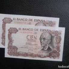 Billetes españoles: PAREJA CORRELATIVA - PLANCHA - FALLA - SERIE 5I. Lote 64517039