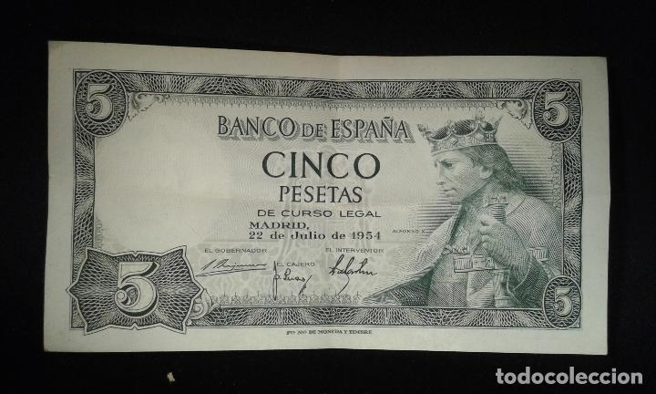 Cinco pesetas  22 de julio 1954  Alfonso X