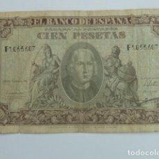 Billetes españoles: BILLETE DE 100 PESETAS 9 ENERO 1949 CRISTOBAL COLON , SERIE F. Lote 64749887