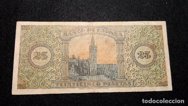 Billetes españoles: BILLETE DE 25 PESETAS. 20.05.1.938 SERIE C BUEN ESTADO. COLECCION. FOTOS Y DESCRIPCION. AUTENTICO. - Foto 4 - 64853219