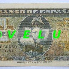 Billetes españoles: UNA (1) PESETA ESTADO ESPAÑOL, 4 SEPTIEMBRE 1940 SIN SERIE.. Lote 37476679