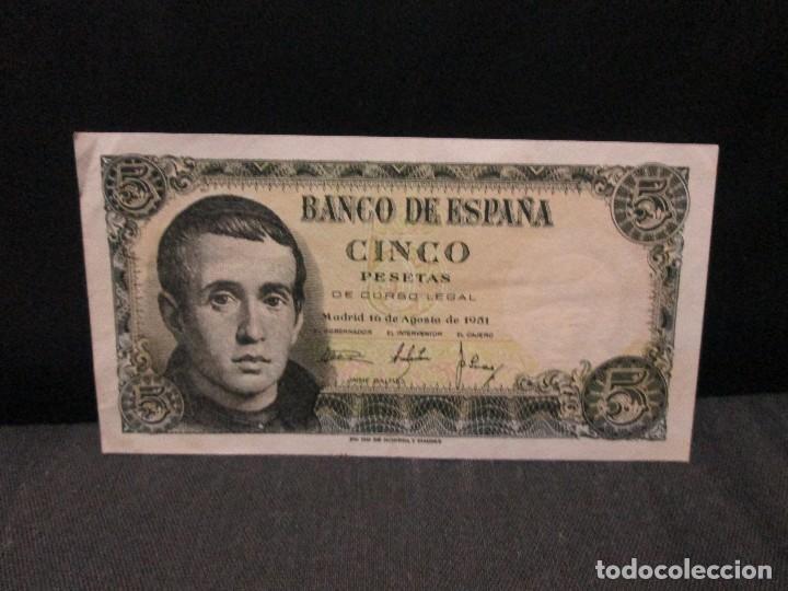 5 PESETAS 16 DE AGOSTO 1951 BC VEAN FOTOGRAFIAS (Numismática - Notafilia - Billetes Españoles)