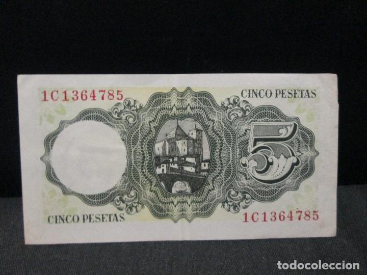 Billetes españoles: 5 pesetas 16 de agosto 1951 bc vean fotografias - Foto 2 - 65781566