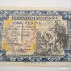 Billetes españoles: 1 PESETA DE 1940 DE JUNIO SIN SERIE-756 SIN CIRCULAR-RARA. Lote 66162998