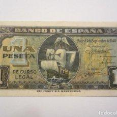 Billetes españoles: 1 PESETA DE 1940 DE SEPTIEMBRE SERIE C-825 EBC. Lote 66163942