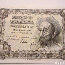 Billetes españoles: 1 PESETA DE 1951 SERIE E-807 PLANCHA. Lote 66178994