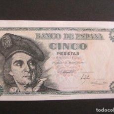 Billetes españoles: 5 PESETAS DE 1948 SERIE A-339 PLANCHA RARO. Lote 66180386