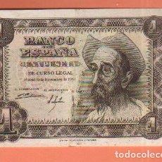 Billetes españoles: BILLETE DE 1 PESETA DE 1951 - EL DE LA FOTO VER TODOS MIS LOTES DE BILLETES. Lote 66204370