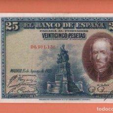 Billetes españoles: BILLETE DE 25 PESETAS DE 1928 SERIE D - EL DE LA FOTO VER TODOS MIS LOTES DE BILLETES. Lote 66205474