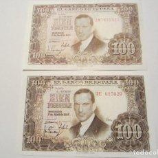 Billetes españoles: 100 PESETAS DE 1953 VARIANTES (CLARO 2M-523/OSCURO 3E-020). Lote 66265990
