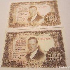 Billetes españoles: 100 PESETAS DE 1953 VARIANTES (CLARO 1R-517/OSCURO 2Y-703) LEER DESCRIPCIÓN. Lote 66266614