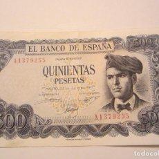 Billetes españoles: 500 PESETAS DE 1971 SERIE A-255 MUY BIEN CONSERVADO RARO. Lote 66272218