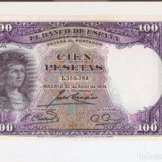 Billetes españoles: PRECIOSO BILLETE 100 PESETAS DE 1931 EL DE LAS FOTOS VER LA CALIDAD DEL BILLETE. Lote 66534362