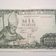 Billetes españoles: 1000 PESETAS DE 1965 SERIE 1H-993 MUY BIEN CONSERVADO. Lote 67202609