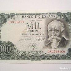 Billetes españoles: 1000 PESETAS DE 1971 SERIE 3X-160 BIEN CONSERVADO. Lote 67205389