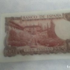 Billetes españoles: BILLETE CIEN PESETAS 1970 MANUEL DE FALLA . Lote 68047657