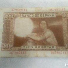 Billetes españoles: BILLETE 100 CIEN PESETAS, 7 ABRIL AÑO 1953, JULIO ROMERO DE TORRES. Lote 68048281