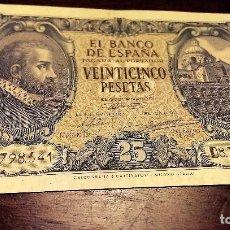 Billetes españoles: BILLETE 25 PESETAS 1940 EBC SERIE D. Lote 68273829