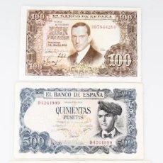 Billetes españoles: LOTE 3 BILLETES ESTADO ESPAÑOL REF 9633. Lote 90353016