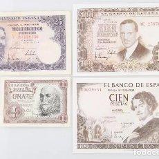 Billetes españoles: LOTE 4 BILLETES ESTADO ESPAÑOL REF 742. Lote 90451095
