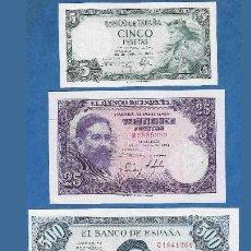 Billetes españoles: LOTE 3 BILLETES ESTADO ESPAÑOL REF 7426. Lote 99304694