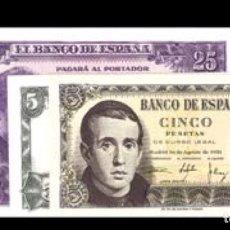 Billetes españoles: LOTE DE 3 BILLETES ESTÁDO ESPAÑOL REF 757. Lote 90449055