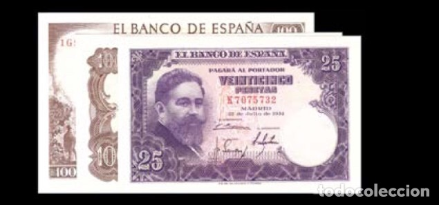 LOTE DE 3 BILLETES ESTADO ESPAÑOL REF 7545 (Numismática - Notafilia - Billetes Españoles)