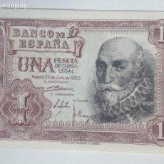 Billetes españoles: BILLETE 1 PESETA. 1953. ESPAÑA. MARQUÉS DE SANTA CRUZ. SIN CIRCULAR. Lote 68847301
