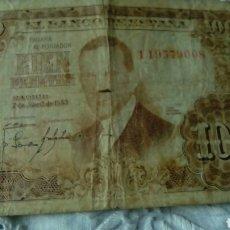 Billetes españoles: 100 PESETAS JULIO ROMERO DE TORRE--7ABRIL 1953--SERIE 1 I9579008--VON ROTURA. Lote 68983503