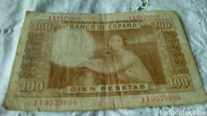 Billetes españoles: 100 PESETAS JULIO ROMERO DE TORRE--7ABRIL 1953--Serie 1 I9579008--von rotura - Foto 4 - 68983503