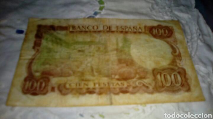 Billetes españoles: 100PESETAS MANUEL DE FALLA- 17 Noviembre 1970-Con Defecto VERDE por el reverso-Serie 1Q 4080041 - Foto 4 - 68990741