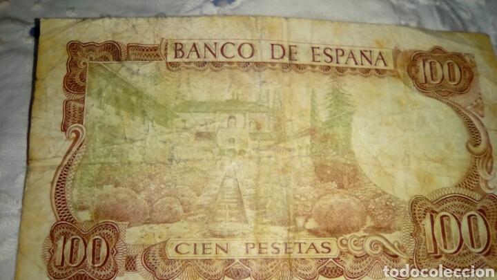 Billetes españoles: 100PESETAS MANUEL DE FALLA- 17 Noviembre 1970-Con Defecto VERDE por el reverso-Serie 1Q 4080041 - Foto 5 - 68990741