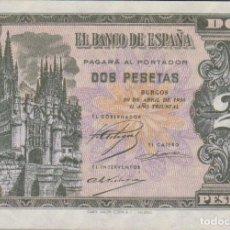 Billetes españoles: BILLETES ESPAÑOLES-ESTADO ESPAÑOL 2 PESETAS 1938 (SERIE L) (SC-). Lote 69076409