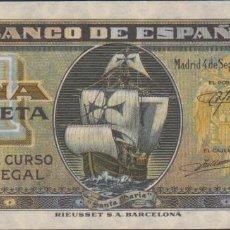 Billetes españoles: BILLETES ESPAÑOLES-ESTADO ESPAÑOL 1 PESETA 9-1940 (SERIE E) (EBC). Lote 69310885